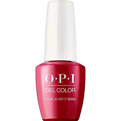 OPI GelColor, Color So Hot It Berns, Red Gel Nail Polish, 0.5 fl oz