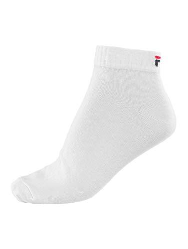 Fila 3 paia di calzini quarter sneaker socks Trainer calze unisex 35-46 - colori multipli: Colour: White | Size: 43-46
