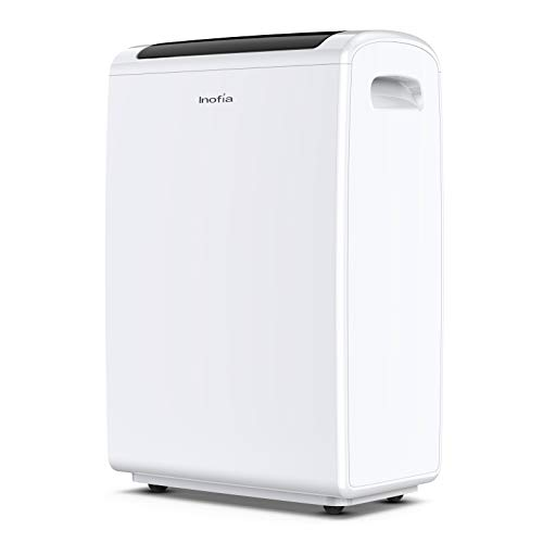 Inofia 70 Pint 4,000 Sq Ft Dehumidifiers for Basements Bathroom Garage Large Room, Portable Home Dehumidifier with Drain Hose/Laundry Mode/Caster Wheels/Water Reservoir