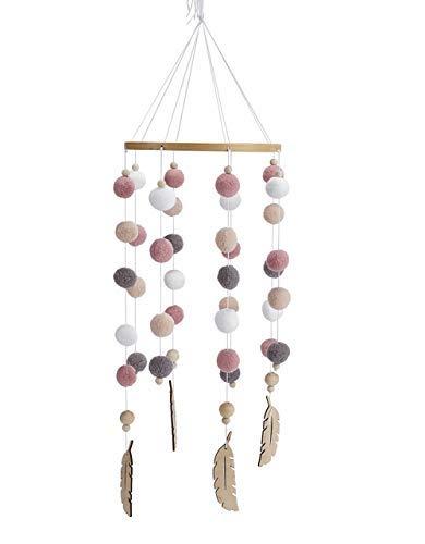 Moonvvin Mobile für Babybett, Filzball, Windspiel, Bettglocke, Rassel, Spielzeug, hängende Ornamente, Foto-Requisiten