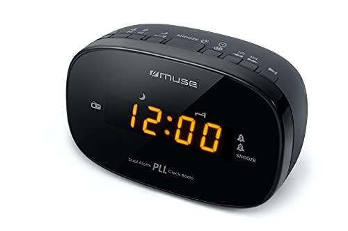 Muse M-150CR Radio-réveil PLL FM Double Alarme Secteur ou Pile