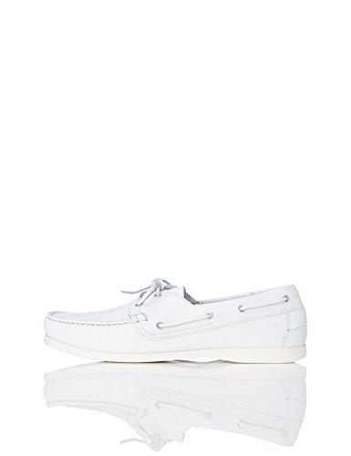 find. Iconic Zapatos Náuticos Hombre, Blanco (White), 39/40 EU