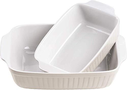 Mäser 931137 Serie Kitchen Time, Auflaufformen rechteckig im 2er Set, eckige Ofenformen, ideal auch...