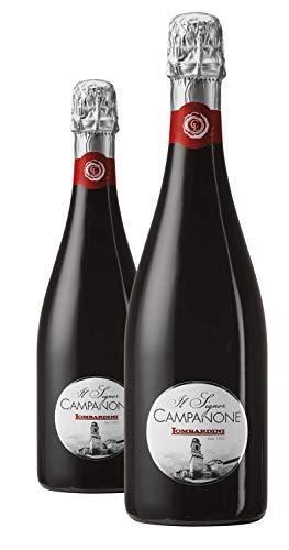 IL SIGNOR CAMPANONE Reggiano DOC Lambrusco Rosso Secco | Cantine Lombardini | Confezione da 6 Bottiglie da 75 Cl | Idea Regalo | Confini del Gusto
