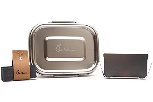 Sattvii® Eco Lunchbox & Brotdose - Fiambrera de acero inoxidable de la serie D-Lock, sin...