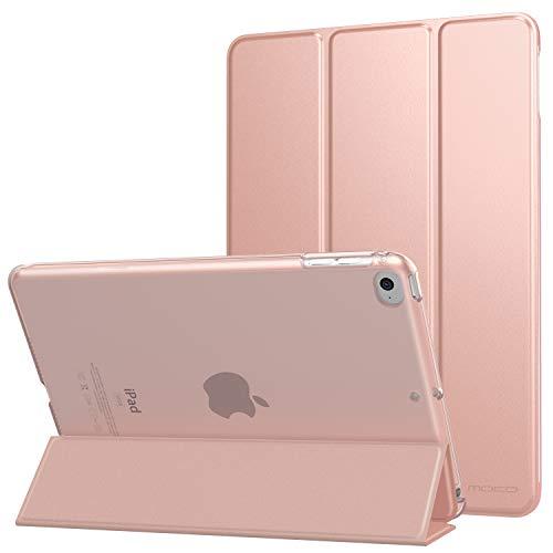 MoKo Custodia Protettiva Compatibile con New iPad Mini 5th Generation 7.9' 2019 / iPad Mini 4 2015, Case Leggero e Sottile, Semi-trasparente, Auto Sveglia/Sonno, Cover - Oro Rosa