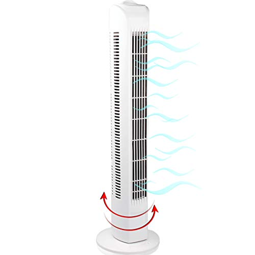 Turmventilator 78cm hoch mit 3 Geschwindigkeitsstufen I leise I 45W I Tower Fan I Ventilator I Turmlüfter I Standventilator I Säulenventilator I Oscillating Fan I Air Conditioner (Turmventilator)