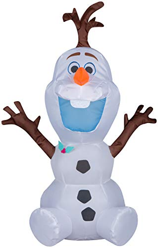Gemmy Airdorable Christmas Airblown Inflatable Olaf Disney, 2 ft Tall, White