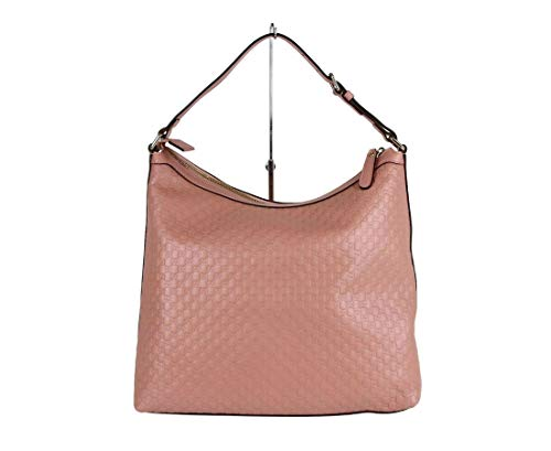 "31WzkCMc43L Made of GG micro guccissima leather; Zip top closure; Light gold hardware; Style: Hobo Bag Adjustable shoulder strap; Inside zipper pocket; Interior ""Gucci"" leather tab Measurements: Bag Length: 13; Bag Height: 11.5; Bag Depth: 5; Bag Width: 13; Shoulder Strap drop: 9 Inches"