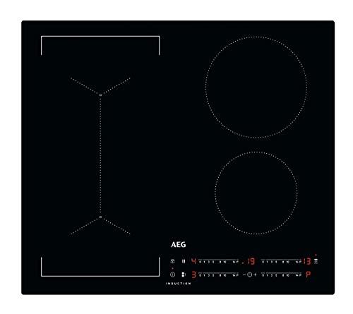AEG IKB64443IB Piano cottura ad induzione MaxiSense 60 cm, 4 zone di cottura, con funzione Bridge e superficie antigraffio