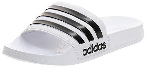 adidas Adilette Shower Chanclas Hombre, Blanco (Footwear White/Core Black/Footwear White 0), 43 EU (9 UK)