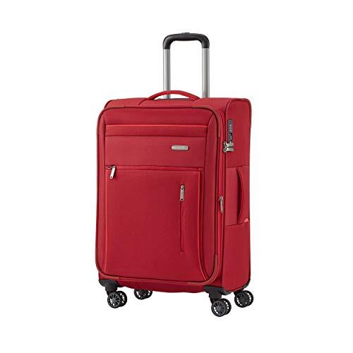 """Travelite Gepäckserie """"CAPRI"""" in 3 Farben: Praktische, elegante 2- und 4-Rad-Trolleys, Reise- und Bordtaschen Koffer, 66 cm, 67 Liter, Rot"""