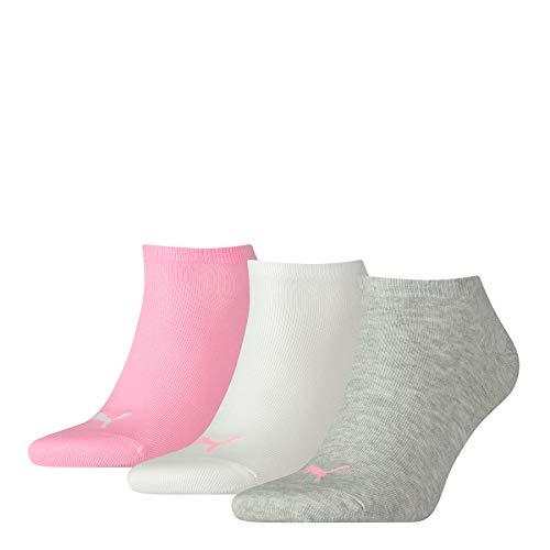 PUMA Sneaker Plain 3p Calze sportive, Prism Pink, 39/42 (Pacco da 3) Unisex Adulto