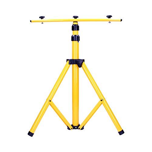 ORNO NR-372ST Stativ für 2x Led Strahler 64 cm - 160 cm Teleskopständer Höheneinstellung Farbe: Gelb
