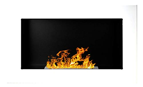 Bio Ethanol Fire BioFire Fireplace Modern 650 x 400 White …