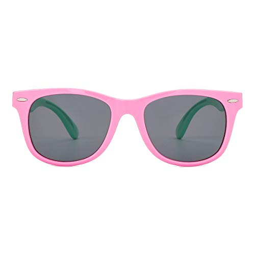 Kids Sunglasses – Polarized TPEE Rubber Flexible Sunglasses for Kids Little Girls Boys Age 3-12