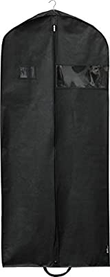 Extra Long size: Great for Suits, Tuxedos, Long Dresses, Gown, Winter Long Coats and even can put your shoes in it. Extra Wide size: Enable you to put multiple items in one bag. Traveling friendly: 2 handles and one eyelet, easy for transport and fol...