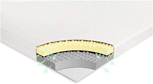 Vesgantti Surmatelas 140x190 Mémoire de Forme de 6CM 2 Couches Mousse Respirant avec Housse Amovible et Lavable
