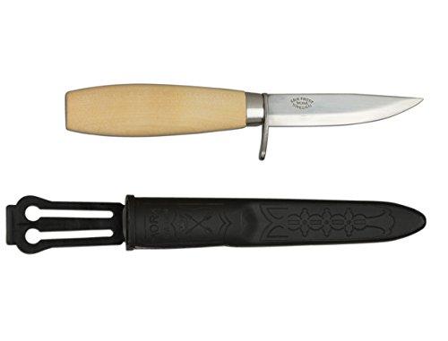 Morakniv Werkzeug Kerbschnitzmesser geölter Birkenholzgriff Fingerschutz Gesamtlänge: 17.0 cm Messer, Grau, M