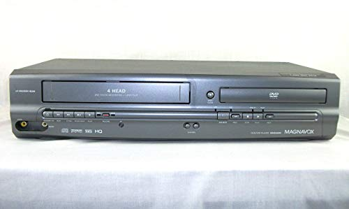 Magnavox MWD2205 DVD / VCR / CD / VHS Player, Video Cassette Recorder, 19 Micro.n Head 4-Head One Touch Recording, Compact Disc Digital Audio with Dolby Digital (Renewed)