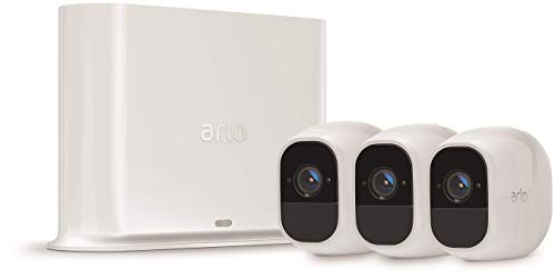 31Xky6betoL Bon plan Arlo Pro 2 | Caméra de Surveillance WiFi sans Fils - Pack de 3, Batteries Rechargeables & Accessoire Arlo Bras de F...