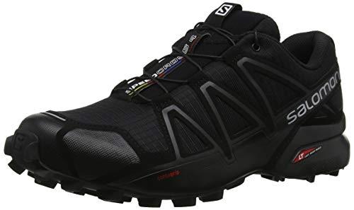 SALOMON Speedcross 4, Zapatillas de Trail Running Hombre, Negro (Black/Black/Black Metallic), 42 2/3 EU