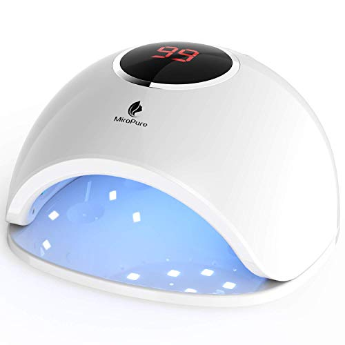 MiroPure UV LED Gel Nail Lamp Light Dryer, Fast Dry 48w Professional Nail Dryer Curing Lamp with Smart Sensor for Home and Salon