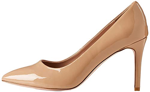 find. Wide Fit Point Court Shoe Zapatos de tacón con Punta Cerrada, Beige, 38 EU
