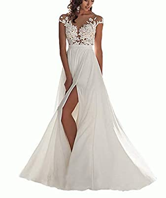 Fabric:Chiffon,lace,Appliques;See through back,back with button,backless prom dresses long,side split evening gowns If you want to order other color,please tell us which color do you want,we will make for you. If you have your detail measurements,ple...