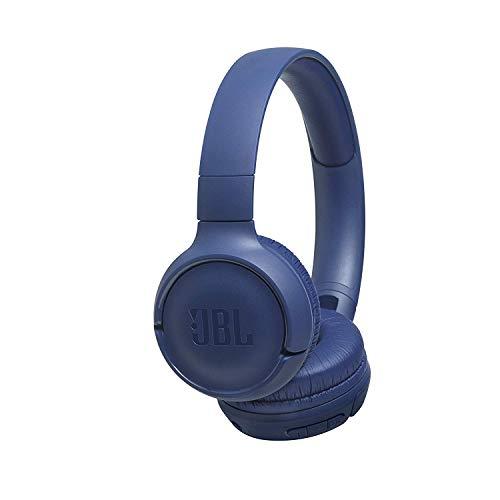 JBL Tune 500BT Auriculares supraaurales inalámbricos con conexiones multipunto y asistente de voz, batería de 16 h, azul