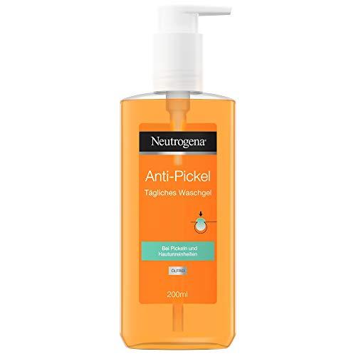 Neutrogena Limpiador facial antiespinillas, limpiador diario con ácido salicílico para pieles con impurezas, sin aceite, 200 ml