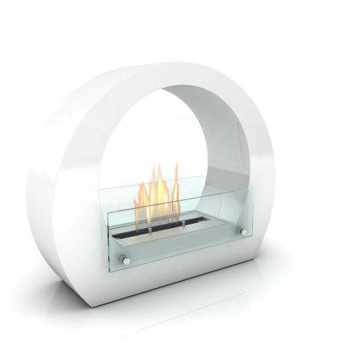 Imagin Bioethanol Fireplace - Boston White