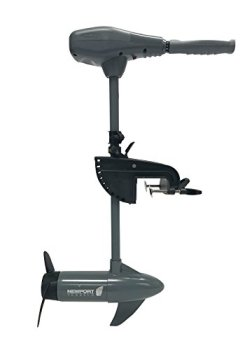 "Newport Vessels Kayak Series 55lb Thrust Transom Mounted Saltwater Electric Trolling Motor w/ LED Battery Indicator (24"" Shaft)"
