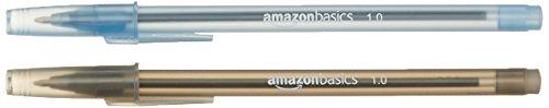 AmazonBasics - Pack de 100 bolígrafos con punta de 1,0 mm