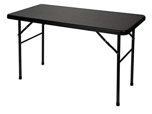 Toolland - FP120R tavolo pieghevole Tolland, effetto rattan, dimensioni 120 cm x 60 cm x 74 cm