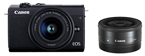 ミラーレスカメラ EOS M200 (ブラック)・ダブルレンズキット