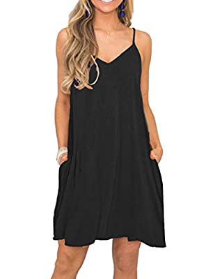 Material: 95% Rayon,5% Spandex.Stretchy,soft and comfy.Made of high quality fabric, breathable. Features:Sleeveless,Features with a sexy open V neckline,loose fit,spaghetti straps,floral Printed,above knee mini,High low hem. US Size:S(US 4-6),M(US 8-...