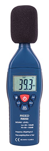 REED Instruments R8050 Sound Level Meter, Type 2, 30-100 and 60-130dB