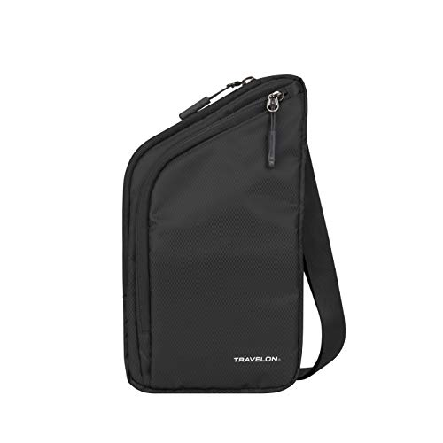 Travelon World Travel Essentials Slim Crossbody Bag, Black, One Size