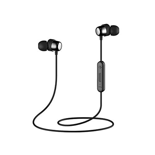 HAVIT Bluetooth Headphones 5.0, IPX5 Sweatproof Stereo Magnetic Wireless Headphones, Wireless in-Ear Sports Earbuds for Running, Cycling, Gym (i39, Black)