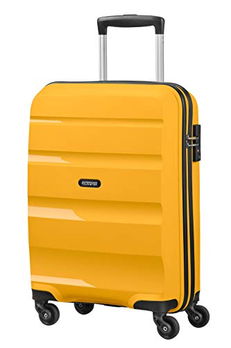 American Tourister Bon Air, Spinner Small Strict Bagaglio a Mano, 55 cm, 31.5 liters, Giallo (Light...