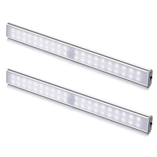 Luci LED Camera da Letto, 40 LED con Sensore di Movimento, Luci LED a Batteria con Striscia...