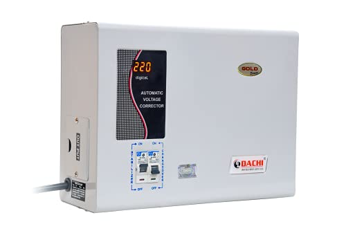 DACHI 5 KVA Automatic Mainline by-Pass Voltage Stabilizer from Input (90V-280V) 100% Copper (Single...