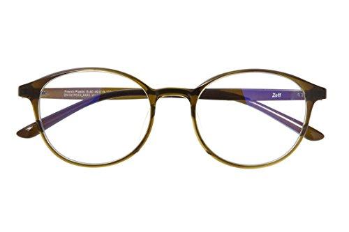 ボストン型PCめがね|Zoff PC CLEAR PACK (ブルーライト50%カット) ゾフ PCメガネ 眼鏡 めがね 黒縁 ダテ...