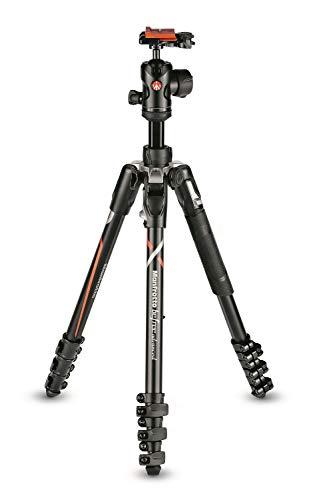 Manfrotto Befree Advanced Stativ Kit für Sony Alpha7 und Alpha9 Kameras, Reisestativ Kit mit Kugelkopf und Schnellverschluss, Alu-Stativ für Kamerazubehör
