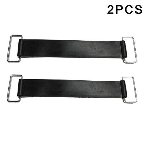Genlesh, fascia elastica per batteria in gomma, supporto fisso, per moto, 2pcs