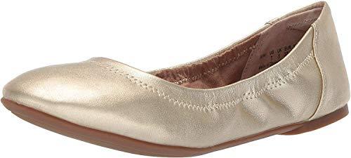 Amazon Essentials Zapatillas de ballet para mujer Belice Bailarinas Mujer, Dorado, 36 EU (4 UK)