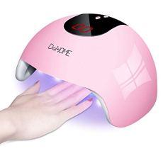 DeNOME Lámpara LED UV Uñas Profesional Maquillaje Uñas/Sensor para uñas de gel y Toe Nail Curing/con 3 Temporizadores(Rosa)