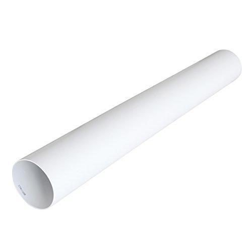 La Ventilazione CTR1125B Tubo per Aerazione Canalizzata Tondo in PVC, 125 mm, Bianco