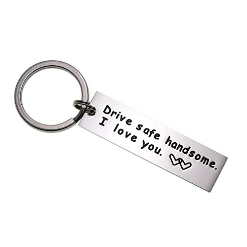 Drive Safe Keychain Handsome I Love You Trucker Husband Gift...
